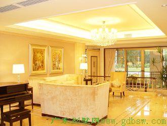 别墅样板房设计-客厅