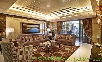 别墅样板房设计-客厅2