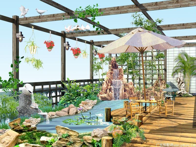 屋顶花园 别墅设计 广州别墅装修