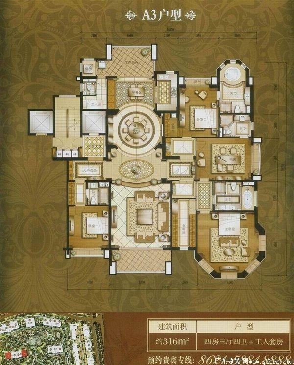 别墅平面设计图 别墅室内设计平面图