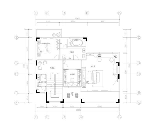 别墅图纸是三层半加地下室内的.   的户型图、效果图、施工