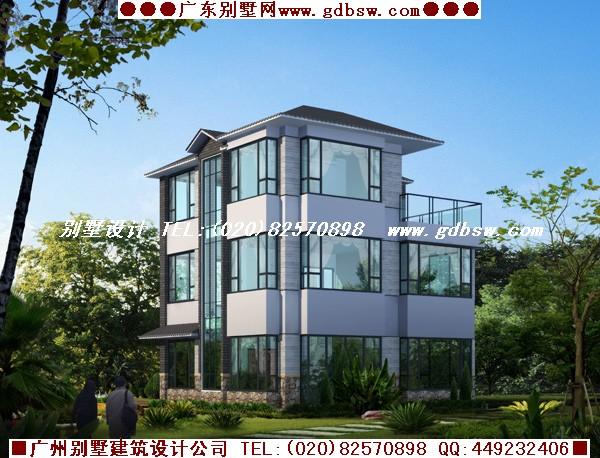 新中式别墅外观设计图展示