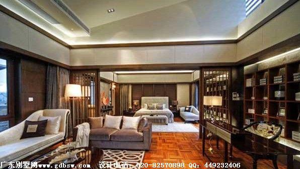 高尔夫别墅样板房设计 中西结合奢华大气