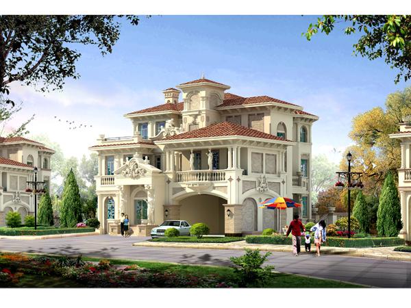 欧式风格别墅建筑设计图片