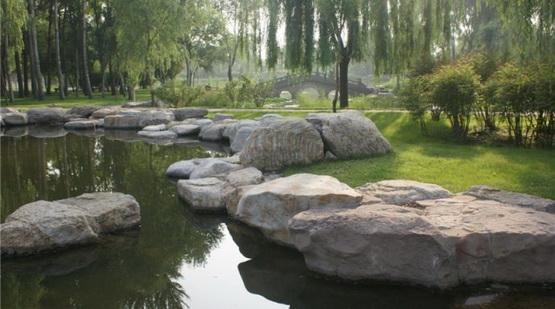 园林野趣景观高清图片 别墅庭院景观实景照片 别墅景观施工