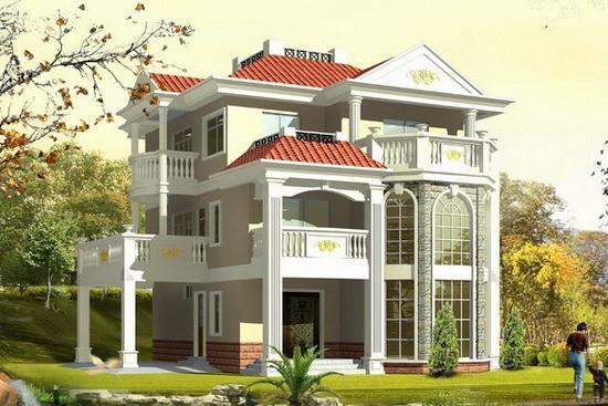 别墅室内装修装饰设计效果图,希望符合你对农村别墅的建造需求.