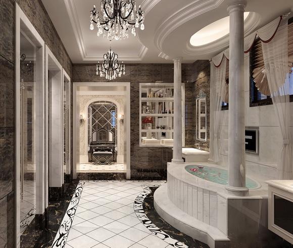 广州顶级原生态别墅卫生间装修设计效果图