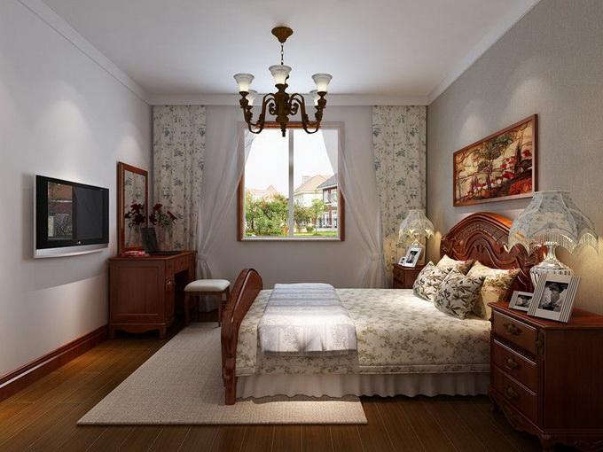 广州别墅卧室装修设计效果图