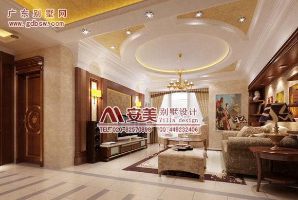 别墅室内装修设计效果图   广州别墅装修设计师们正是严格