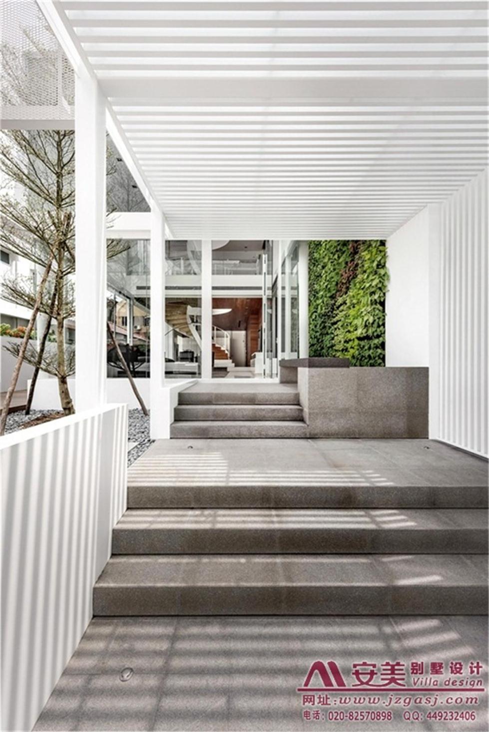 别墅用地规划、户型平面图设计、建筑外观效果图设计,结构施