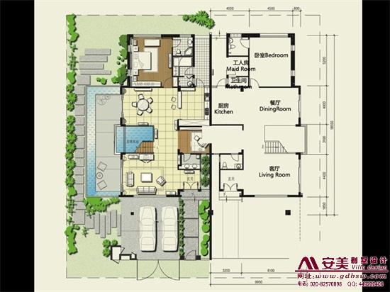 侨建御溪谷万博国际app下载建筑设计户型图-A1户型首层平面图