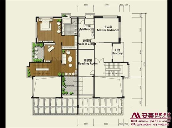 侨建御溪谷万博国际app下载建筑设计户型图-A1户型二层平面图