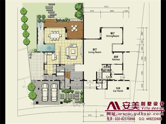 侨建御溪谷万博国际app下载建筑设计户型图-A2户型首层平面图