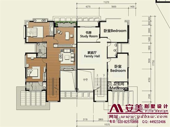 侨建御溪谷万博国际app下载建筑设计户型图-A2户型二层平面图