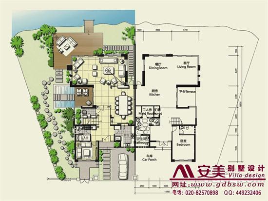 侨建御溪谷万博国际app下载建筑设计户型图-C1户型首层平面图
