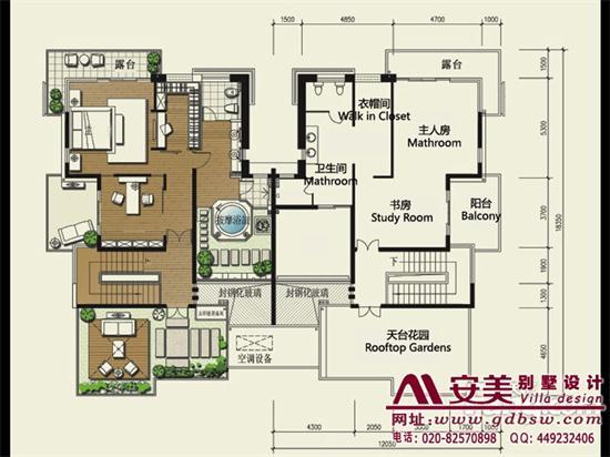 侨建御溪谷万博国际app下载建筑设计户型图-C1户型三层平面图