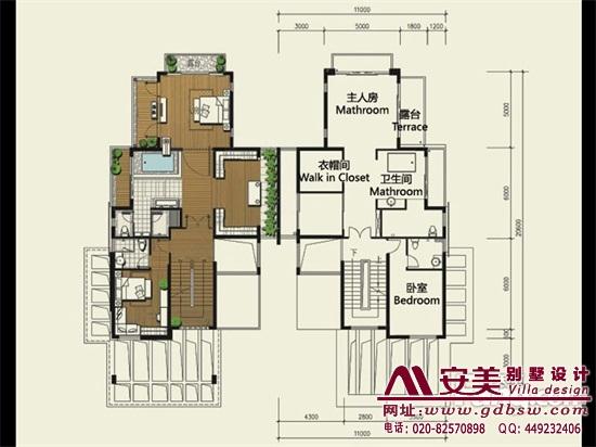 侨建御溪谷万博国际app下载建筑设计户型图-C2户型二层平面图