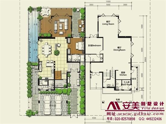 侨建御溪谷万博国际app下载建筑设计户型图-C2户型首层平面图