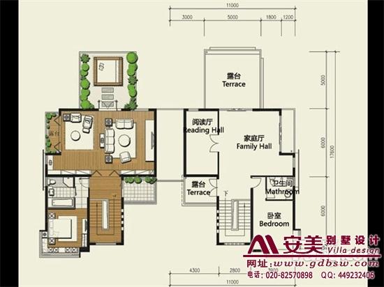 侨建御溪谷万博国际app下载建筑设计户型图-C2户型三层平面图