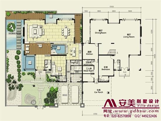 侨建御溪谷万博国际app下载建筑设计户型图-C3户型首层平面图