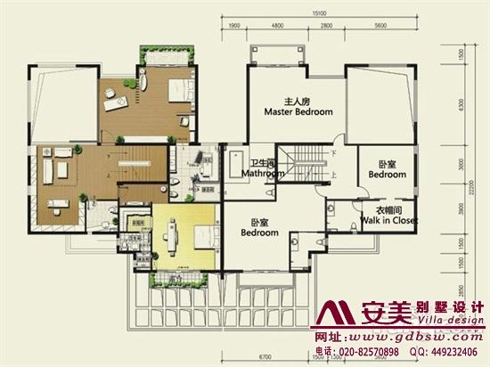 侨建御溪谷万博国际app下载建筑设计户型图-C3户型二层平面图