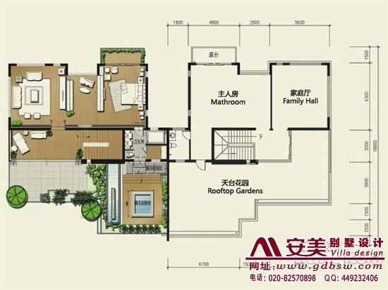 侨建御溪谷万博国际app下载建筑设计户型图-C3户型三层平面图