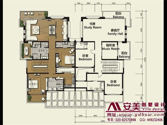 侨建御溪谷万博国际app下载建筑设计户型图-C1户型二层平面图