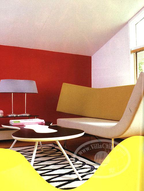 设计特点:建筑师karim rashid为自己设计的夏日住宅,在离市区