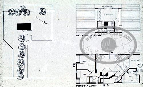二层楼房电路设计图展示